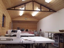 Sleepy Valley Quilt Co. has a large, airy classroom available for rent when not in use. Great for your special quilting events or sewing meetings.