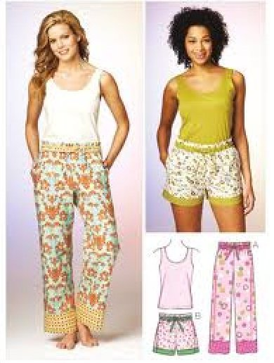 Misses' Sleep Pants, Shorts & Top