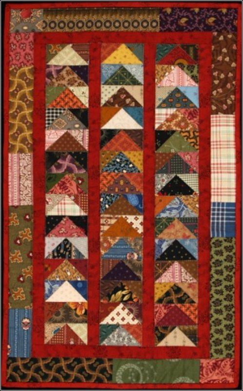 Stacked Geese Quilt Pattern #1005