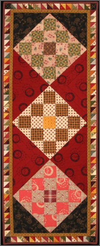 Checkerboard Table Runner Pattern #1012