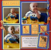 Birthday Baby Scrapbook Layout