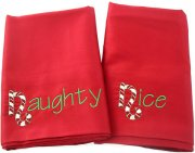 Naughty and Nice Pillow Case