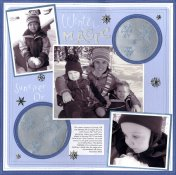 Winter Magic Scrapbook Layout