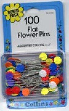Flat Head Flower Pins