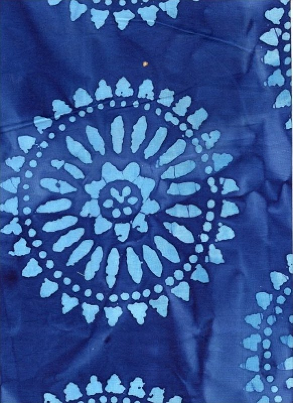 Polynesian Batik Royal Blue Medallion