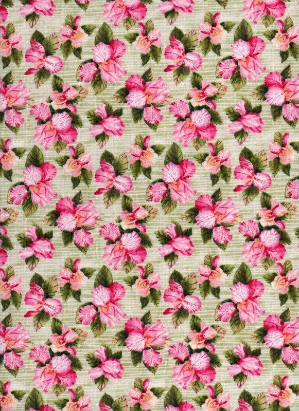Petal Me Pink Pink/Green Flowers on Vines