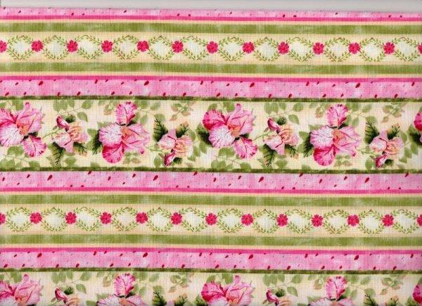 Petal Me Pink Floral Stripe