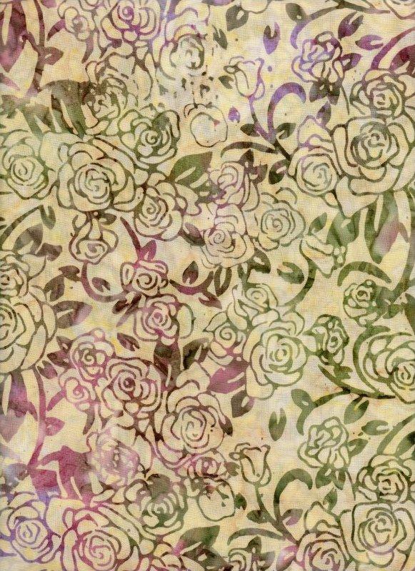 Tonga Opal Roses Batik