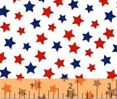 31641-23_Windham Basics_Red_Blue Stars on white