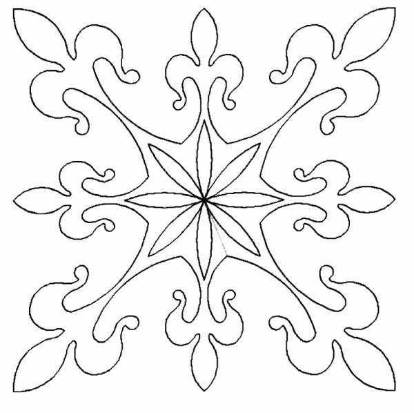 French Lily Block