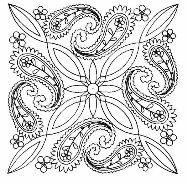 Paisly Flower Block