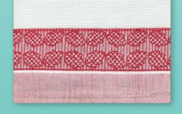 # 3059 CCS Leaves Towel - Red