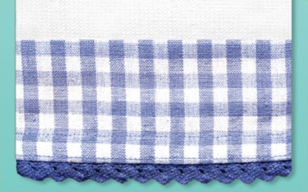 # 3033 Blue Gingham Towel