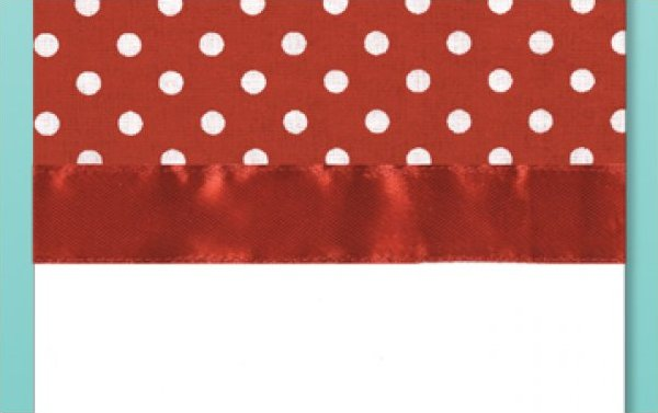 # 3038 Polka Dot Towel - Red