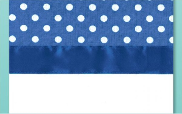# 3039 Polka Dot Towel - Blue