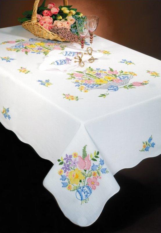 # T201925-86 Easter Basket Tablecloth