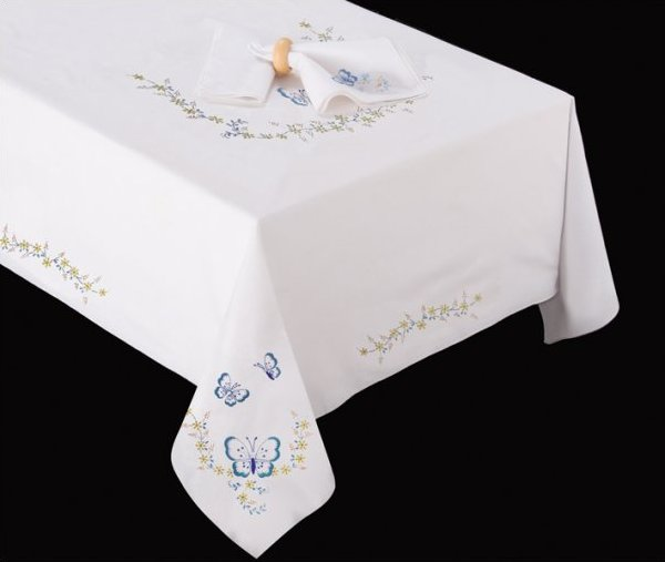 # T201477-90 Butterflies Tablecloth