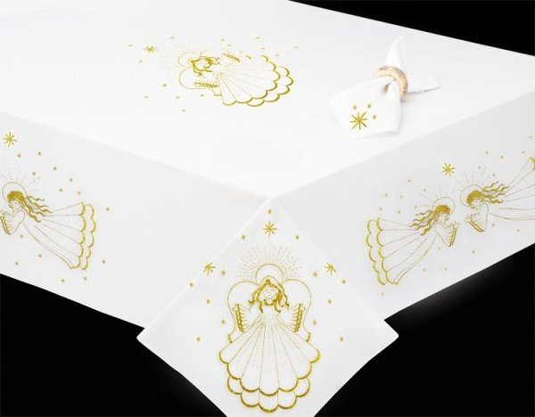 # T201489-104 Golden Angel Tablecloth