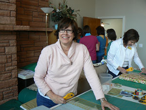 Jill Teaching Her Quilt Classes