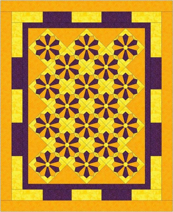 Karma Simplicity Four - Dresden plate by Linda Barrett