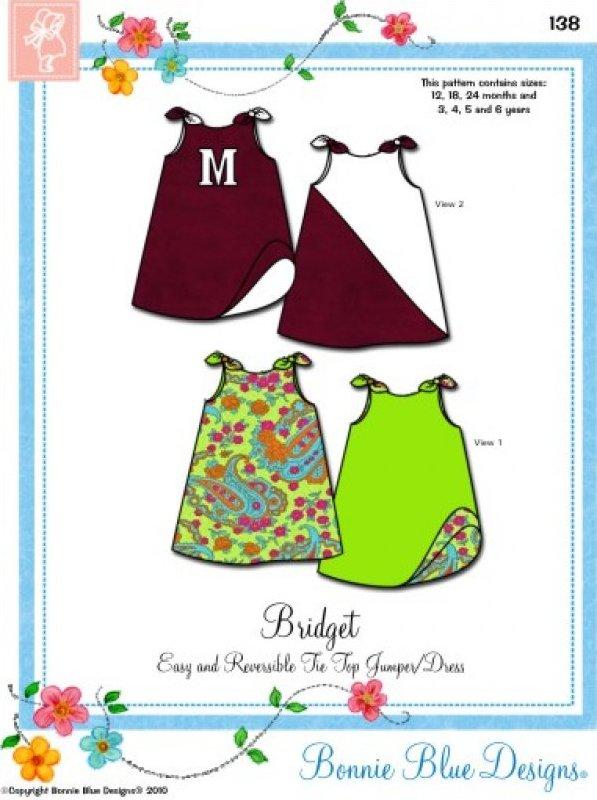Bridget #138 - Easy and Reversible Tie Top Jumper/Dress