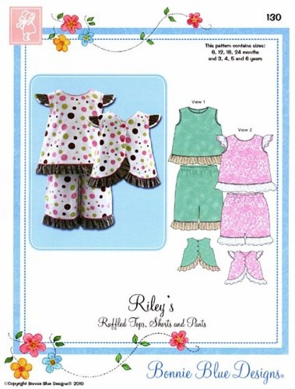 Riley #130 - Ruffled Tops Shorts and Pants