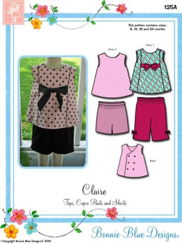 Claire #125 - Tops Capris Pants and Shorts
