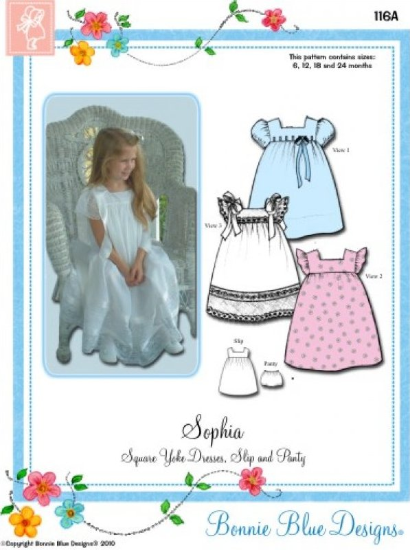 Sophia - #116 - Square Yoke Dresses Slip and Panty