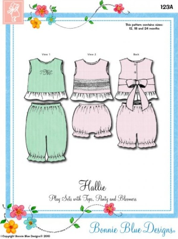Hallie #123 - Play Sets with Tops Panty and Bloomers