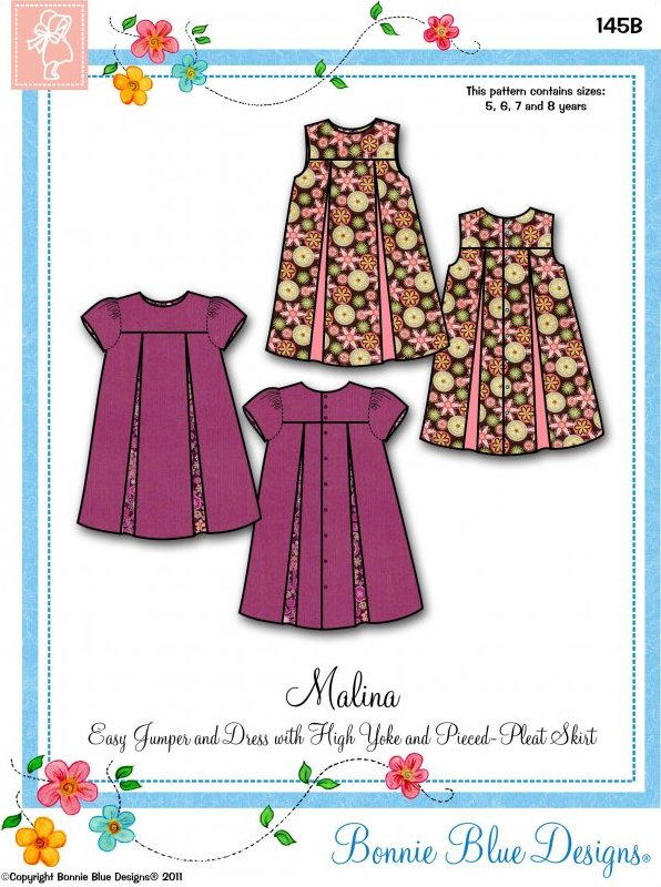Malina #145 - Easy Jumper and Dress with High Yoke and Pieced-Pleat Skirt