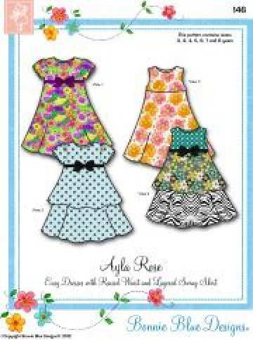 Ayla Rose - #146 - Easy Dresses with Raised Waist and Layered Swing Skirts