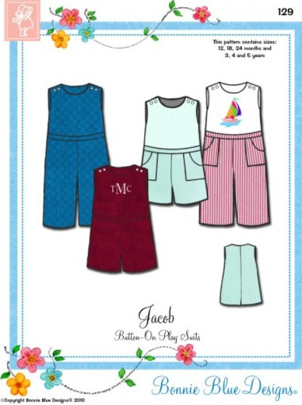Jacob #129 - Button-on Play Suits