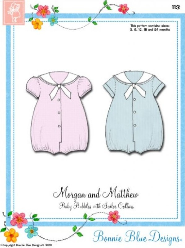 Morgan & Matthew #113 - Baby Bubbles with Sailor Collars