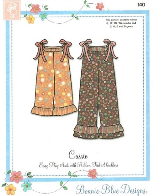 Cassie #140 - Easy Long and Short Play Suits with Ribbon Tied Shoulders