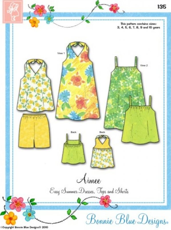Aimee - #135 - Easy Summer Dresses Tops and Shorts