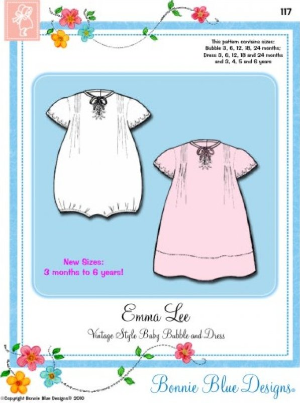 EmmaLee #117 - Vintage Style Baby Dress and Slip