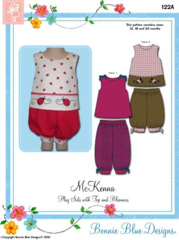 McKenna #122A - Play Sets with Tops. Panty and Bloomers