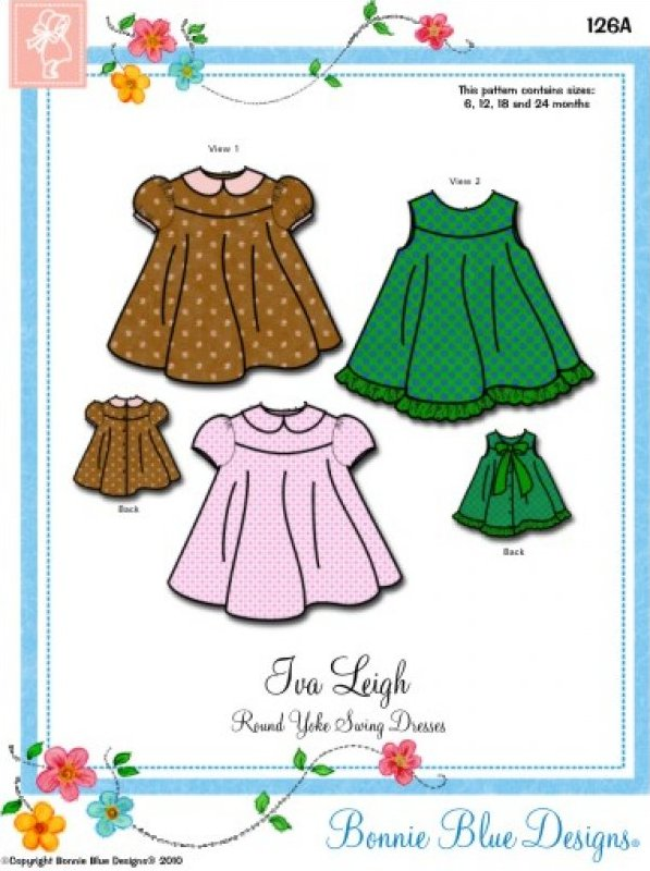Iva Leigh #126A - Round Yoke Swing Dresses