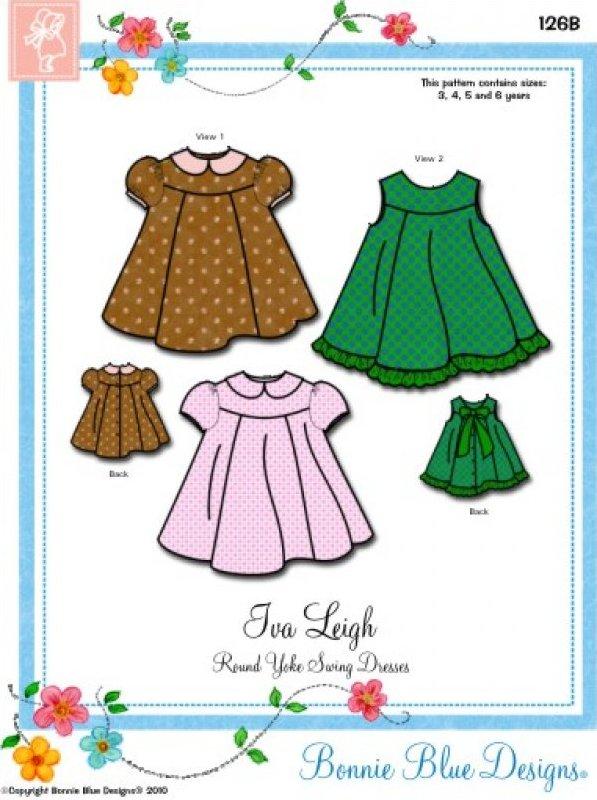 Iva Leigh - #126B - Round Yoke Swing Dresses