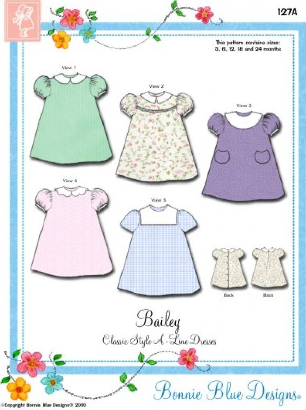 Bailey #127A - Classic Style A-Line Dresses