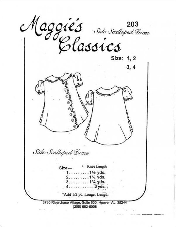 Maggie's Classics - Side Scalloped Dress - #203