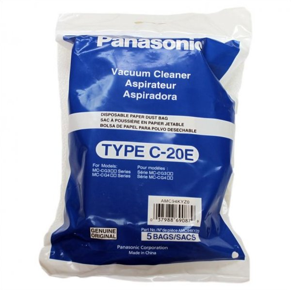 Type C-20E Panasonic #AMC94KYZ0 Paper Bag- 5 pack
