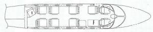 Hawker 400 XP Floorplan