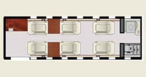 Lear Jet 40 Floor Plan