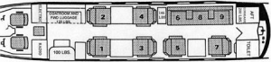 Falcon 20/200 Floor Plan