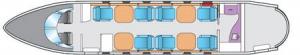 Gulfstream G150 Floor Plan