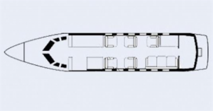 Hawker 700 Floor Plan