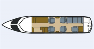 Hawker 800 XP Floor Plan