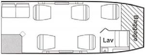 Lear Jet 55 Floor Plan