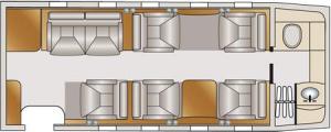 Lear Jet 60 Floor Plan